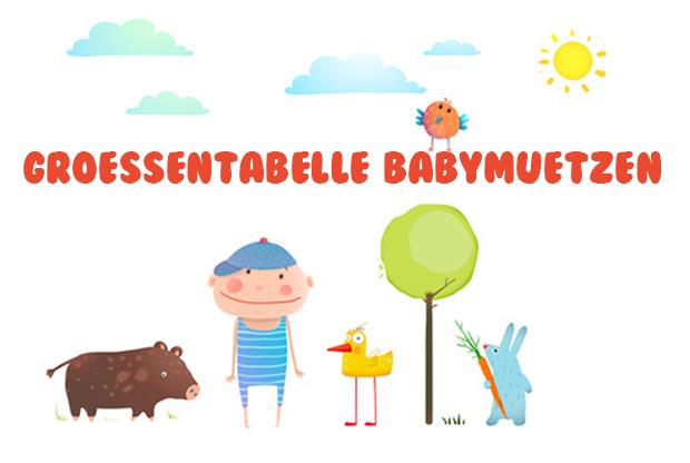 Größentabelle Babymützen