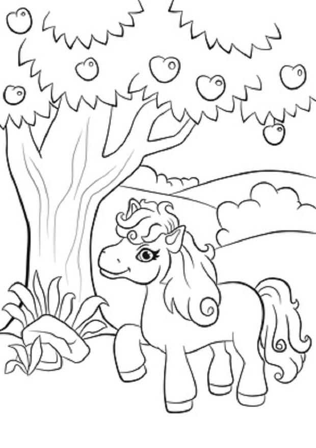ausmalbilder pferde  junoode