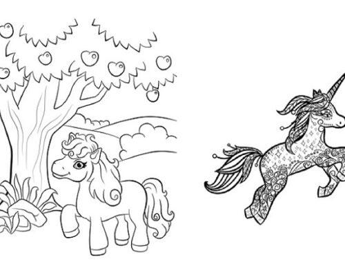 Ausmalbilder für Pferde-Fans